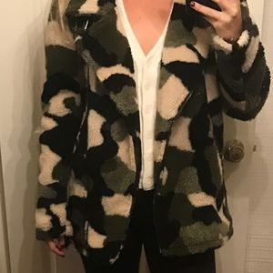 Urban outfittters oversized Sherpa jacket